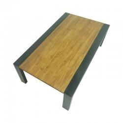 Table basse teck et métal 120 Alice