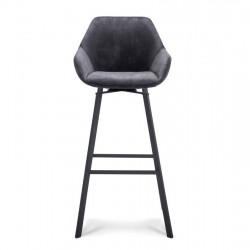 Lot de 2 chaises hautes design en tissu Yaro