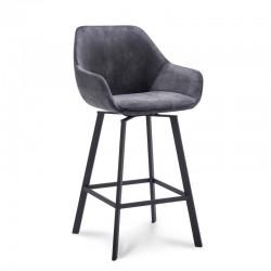 Chaise haute design en tissu Yaro