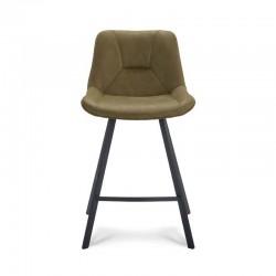 Lot 2 Chaises hautes design en cuir Kalby