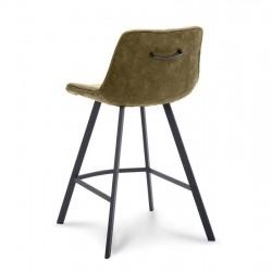 Chaise haute design en cuir Jagy
