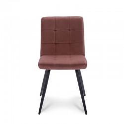 Lot 2 chaises design en tissu microfibre Wiggy