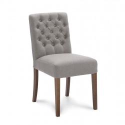 Lot de 2 chaises design en tissu microfibre Caris