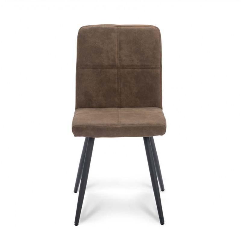 Chaise design en tissu microfibre Teza
