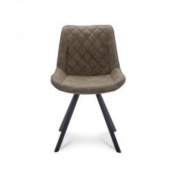 Lot de 2 chaises style design en tissu Radys