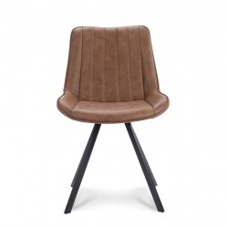 Lot de 2 chaises style design en tissu Casys