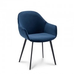 Lot de 2 fauteuils style design en velours Galvy