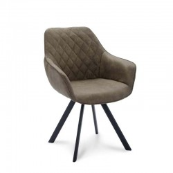Lot de 2 fauteuils style design en tissu microfibre Paga