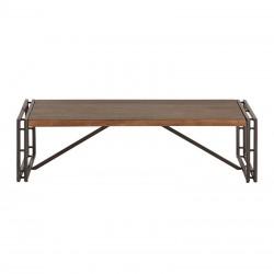 Table basse en manguier et métal 130x70 Estelle