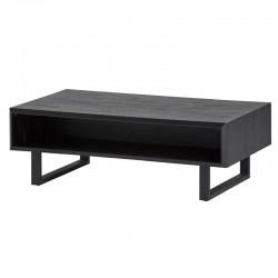 Table basse en acacia et métal 120x70 Leony