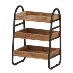 Meuble d'appoint 3 plateaux en bois de manguier 45 New Best