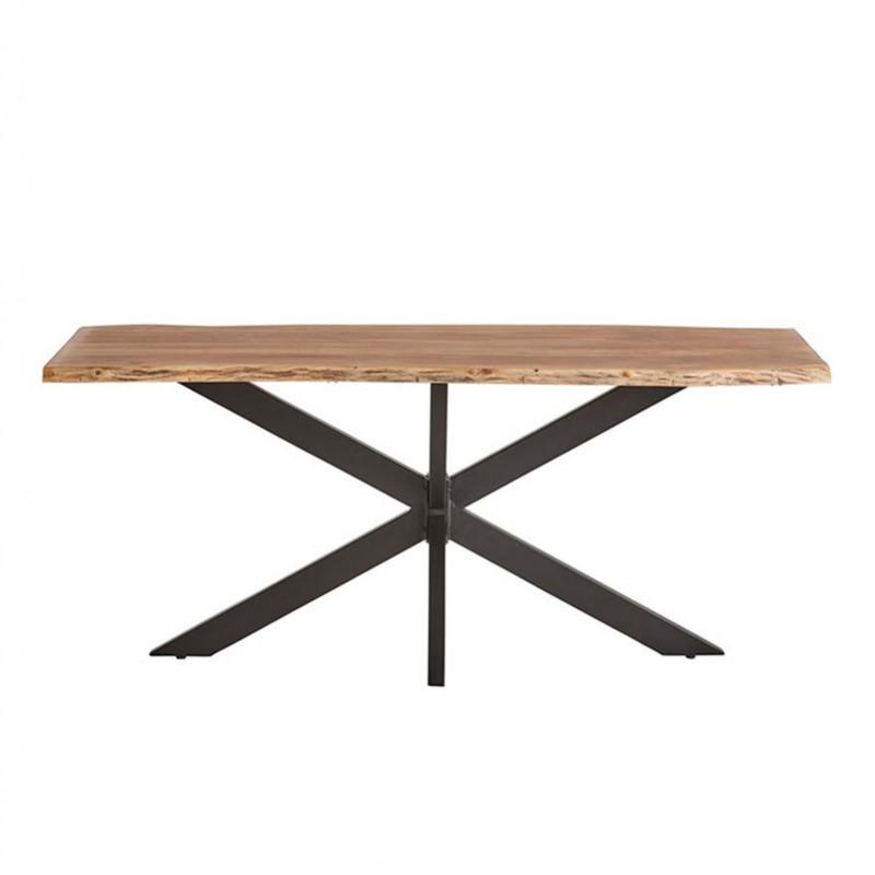 Table à manger en acacia et métal Nabel