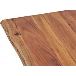 Table bar en acacia et métal 180x90 Nabel