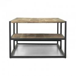 Table basse en manguier et métal 125x70 Madras
