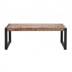 Table basse manguier et métal 120x60 Sahara