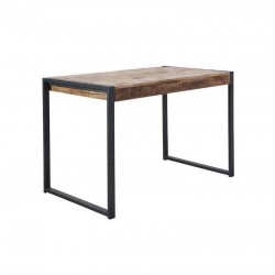 Table haute manguier et métal 140 Sahara