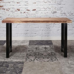 Table haute en acacia naturel 150x50