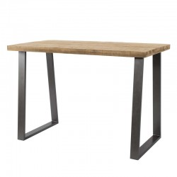 Table de bar en manguier massif 135x70