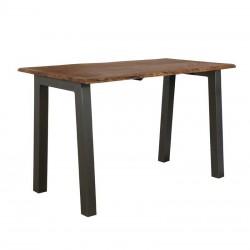 Table haute en acacia et métal 145x80