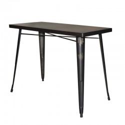 Table haute en métal 120x60