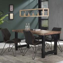 Table à manger en acacia pieds forme H