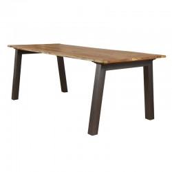 Table à manger en acacia et métal