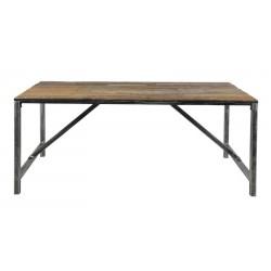 Table à manger et bois et métal
