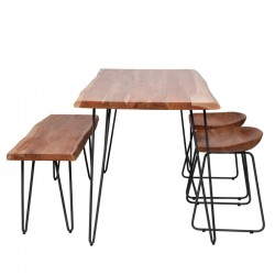 Table à manger en acacia 130x70