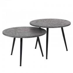 Tables gigognes rondes en métal