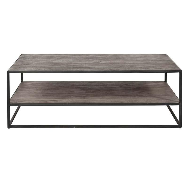 Tables basses 2 plateaux en acacia 120x60