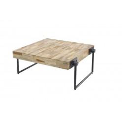 Tables carrées en teck recyclé 70x70