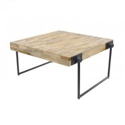 Tables carrées en teck recyclé 80x80