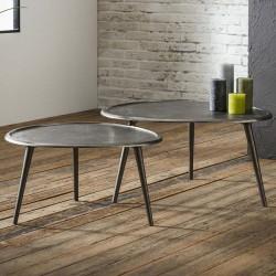 Table basse en métal faite main 55x60