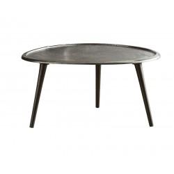Table basse en métal faite main 65x73