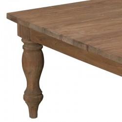 Table basse 100x100 en teck Bologne