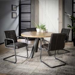 Table à manger en bois de manguier et métal