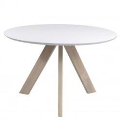 Table ronde en chêne et MDF