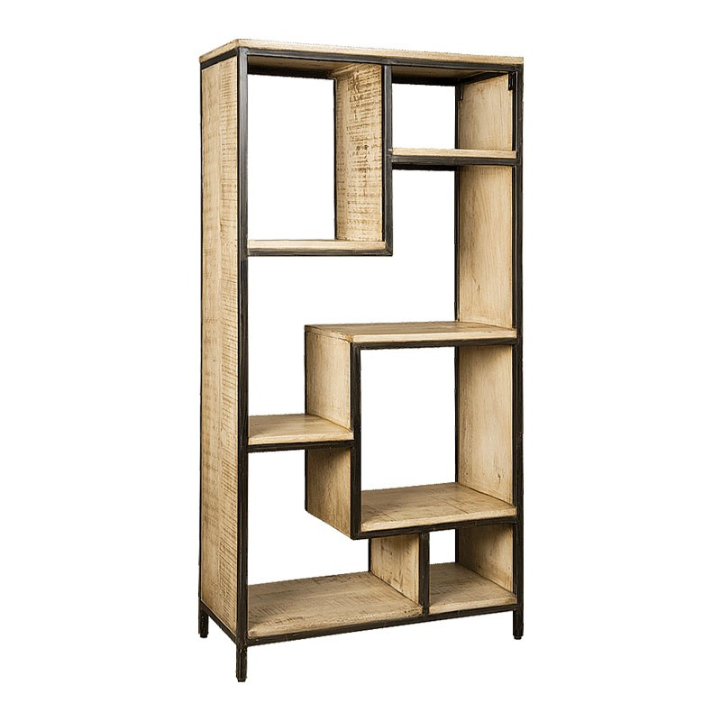Bibliothèque en bois de manguier et métal 90 Iffy