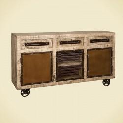 Buffet en bois de manguier et métal 150 Iffy