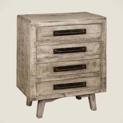 Armoire 4 tiroirs en bois de manguier 75 Iffy