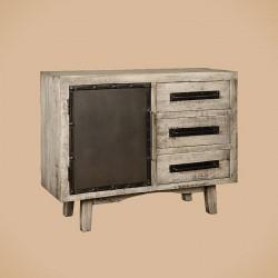 Buffet 3 tiroirs en bois de manguier et métal 115 Iffy