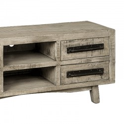 Meuble TV en bois de manguier et métal 150 Iffy