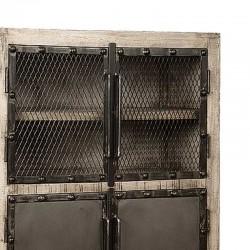 Armoire 4 portes en manguier et métal 80 Iffy