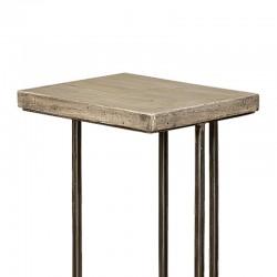 Table d'appoint en manguier et métal 40 Iffy
