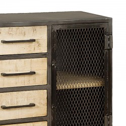Armoire 4 tiroirs manguier et métal 75 Iffy