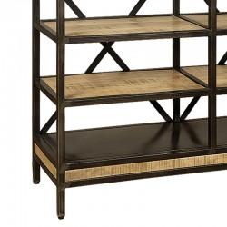 Bibliothèque ouverte en bois de manguier et métal 120 Iffy