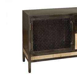 Meuble TV 2 portes manguier et métal 155 Iffy