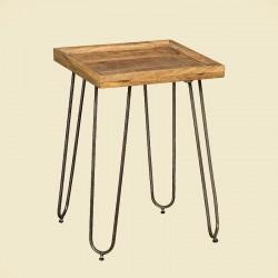 Table d'appoint manguier et métal Harold