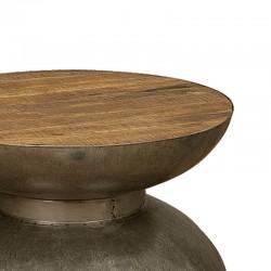 Table basse manguier et métal 80x80 Harold