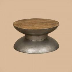 Table basse manguier et métal Harold